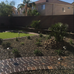 Las Vegas yard completed by Green America Tree & Landscaping