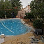 Protecting the Pool while Completing Landscaping